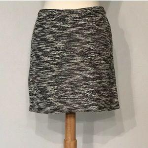 Joe Boxer Black White Stretch Knit Mini Skirt